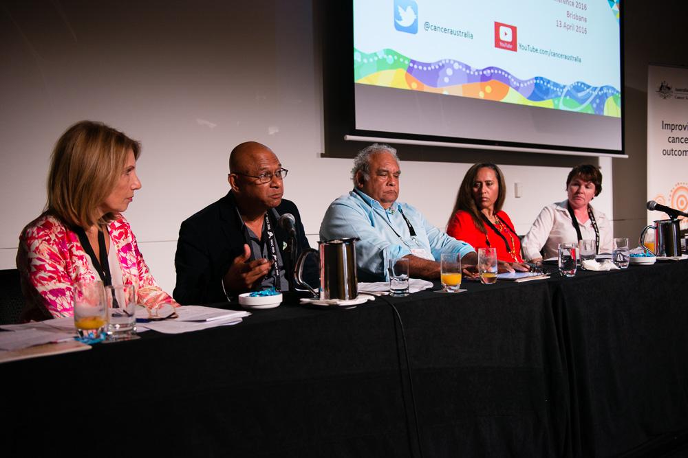 Seminar Panel (l to r) Helen Zorbas, Mark Wenitong, Tom Calma, April Lawrie Smith and Amanda Mitchell