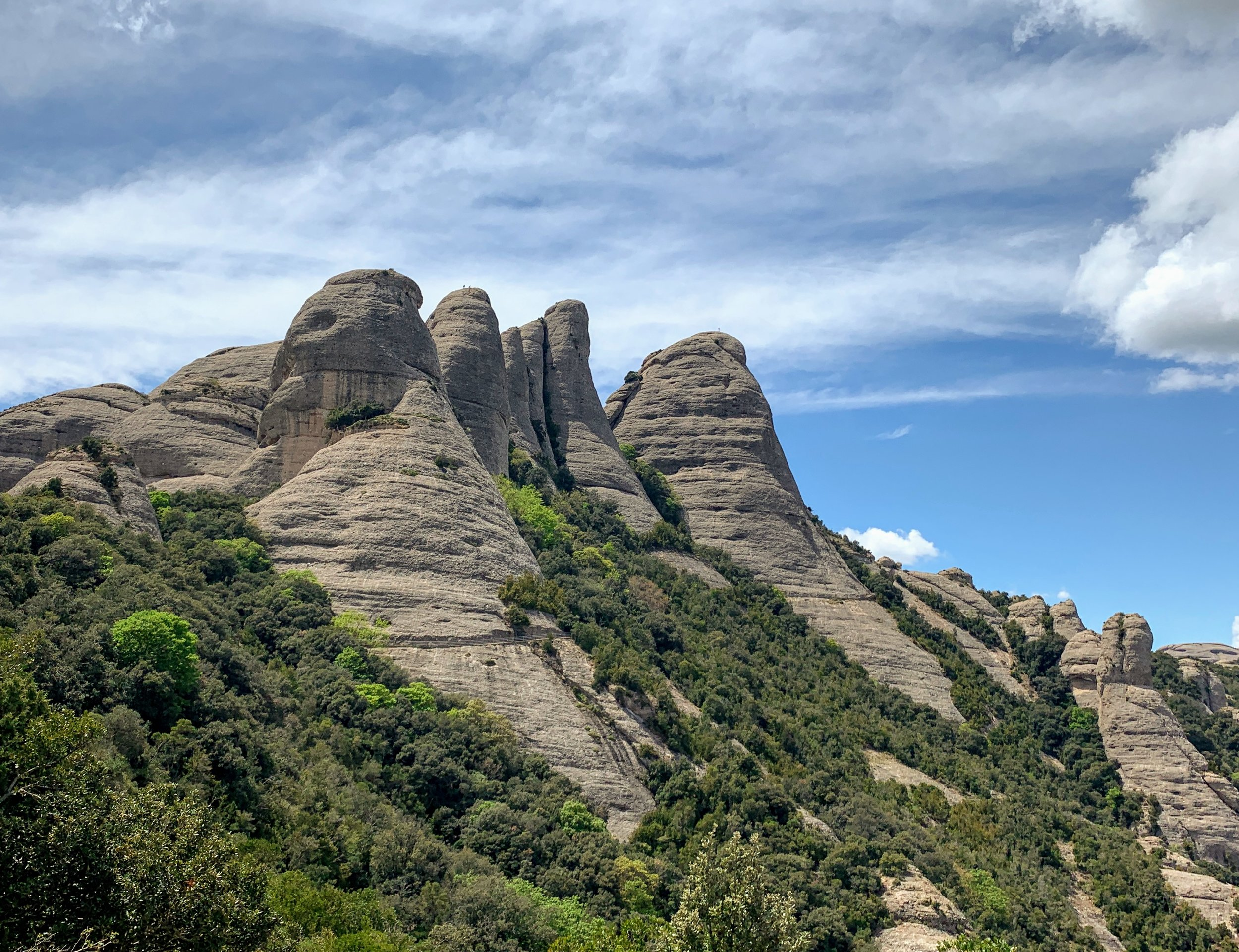 Beautiful rock formations at Montserrat