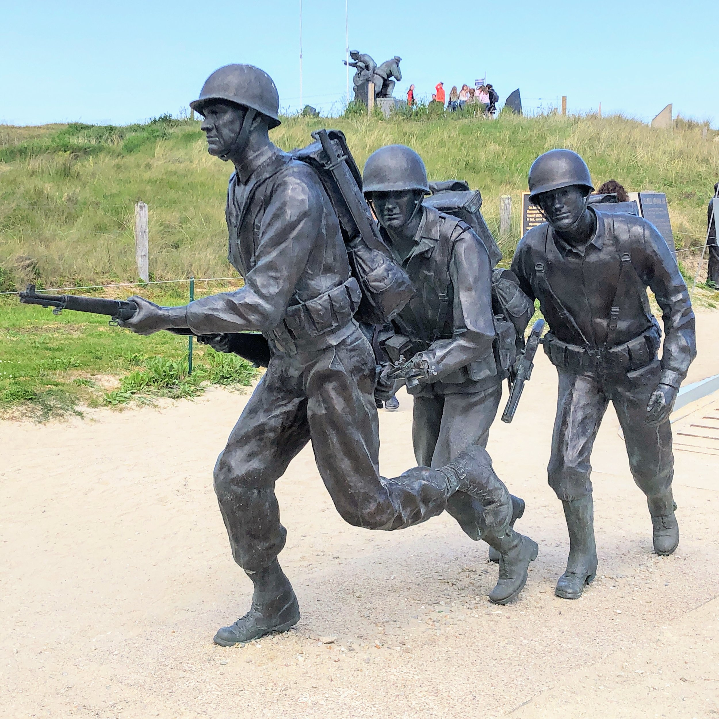 Memorial to American WWII soldiers at Utah Beach