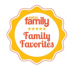 """Parents and families LOVE our service! That's why we were voted a """"Family Favorite"""" by Metro Family Magazine."""