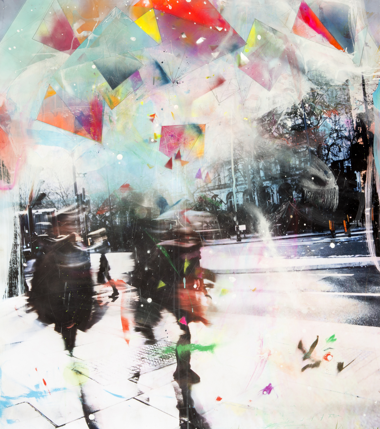 - Temporal Archival print on 300gsm Hahnemuhle paper, hand-coloured,mounted on diabond and resin coated.140cm x 120cm