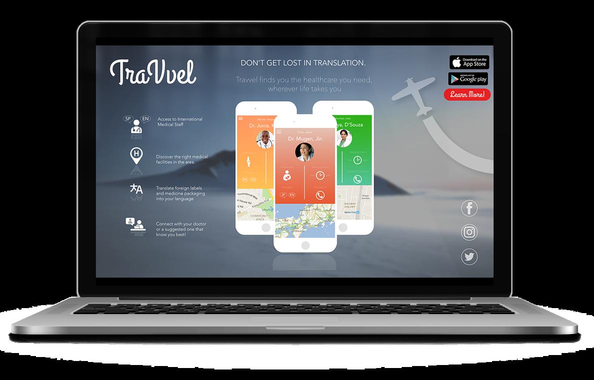TraWell desktop landing page