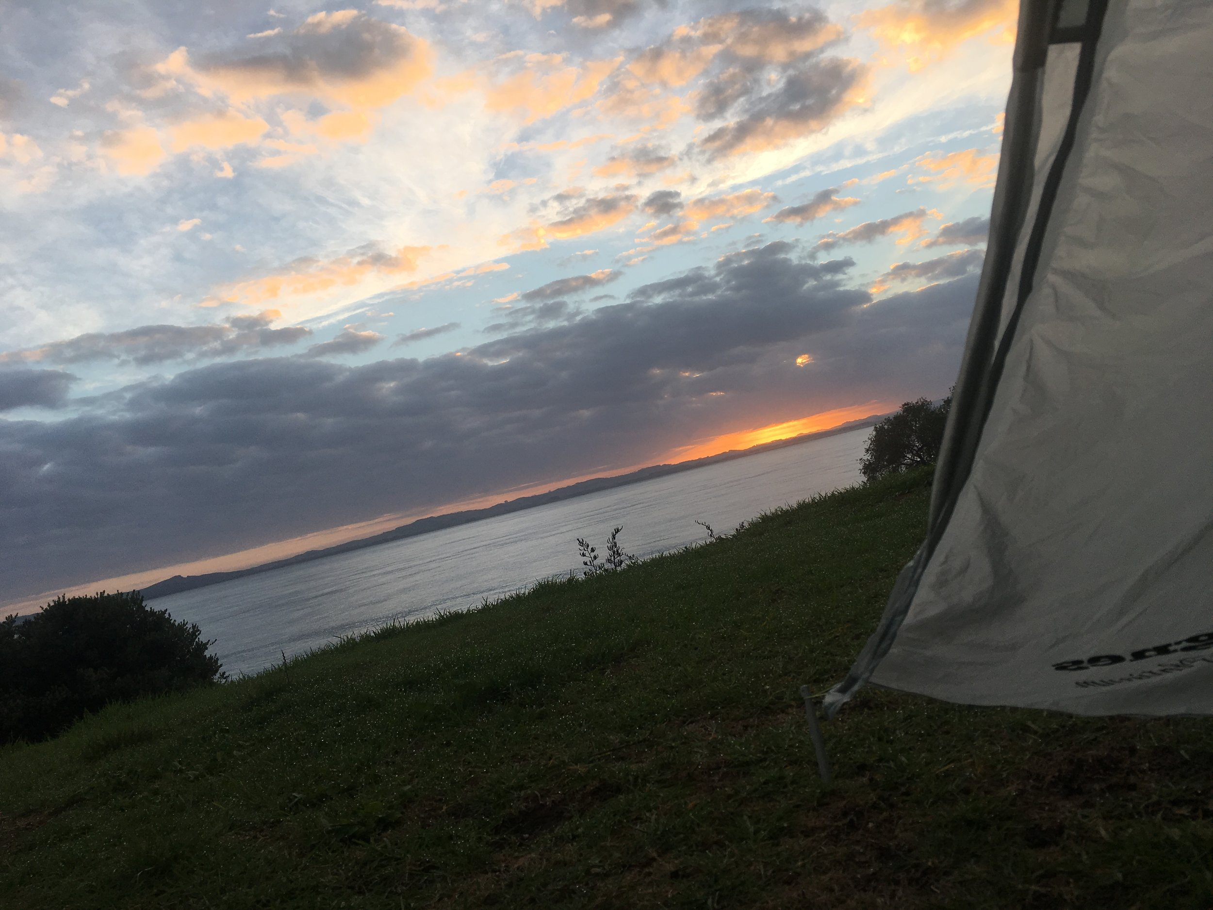 Morning view from my tent