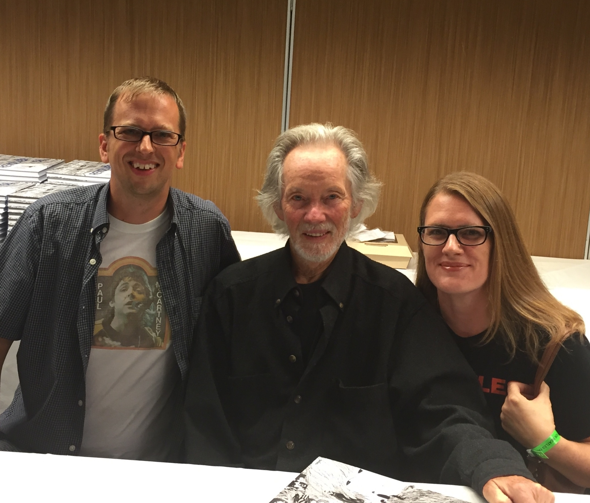 Andy and Amy with Klaus Voormann at The Fest for Beatles Fans, Chicago, 2016.