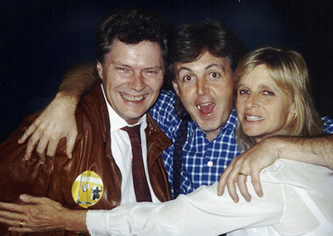 Eirik Wangberg with Paul and Linda McCartney, 1989. Photo by Fredrik Skavlan, courtesy of Eirik Wangberg.