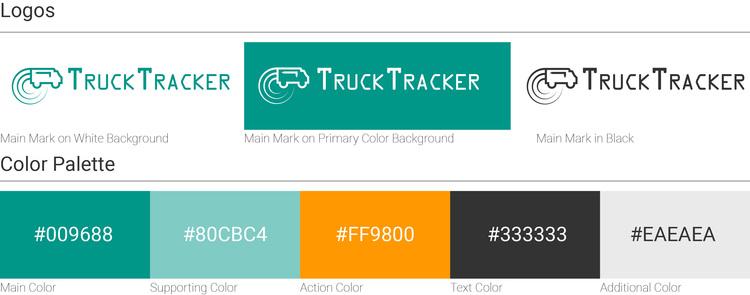Logo design and color palette