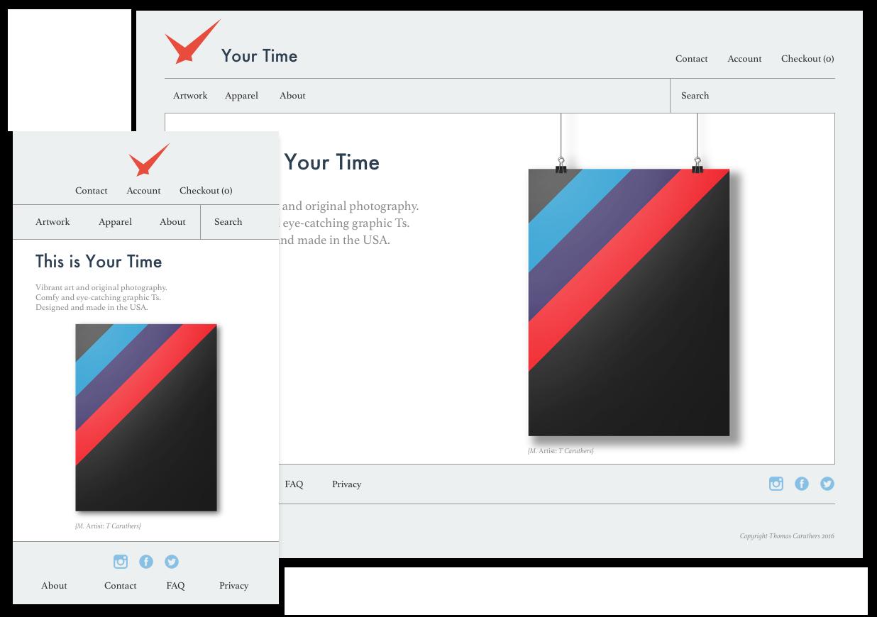 Mobile and desktop landing page mockups