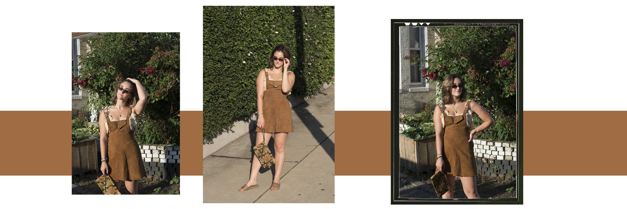 ^ Kat's Basil Picks:  dress ,  sweater tank ,  sunnies ,  clutch