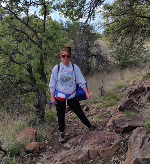 Feeling very impressed with this 4 mile up-mountain hike to our primitive camping spot....