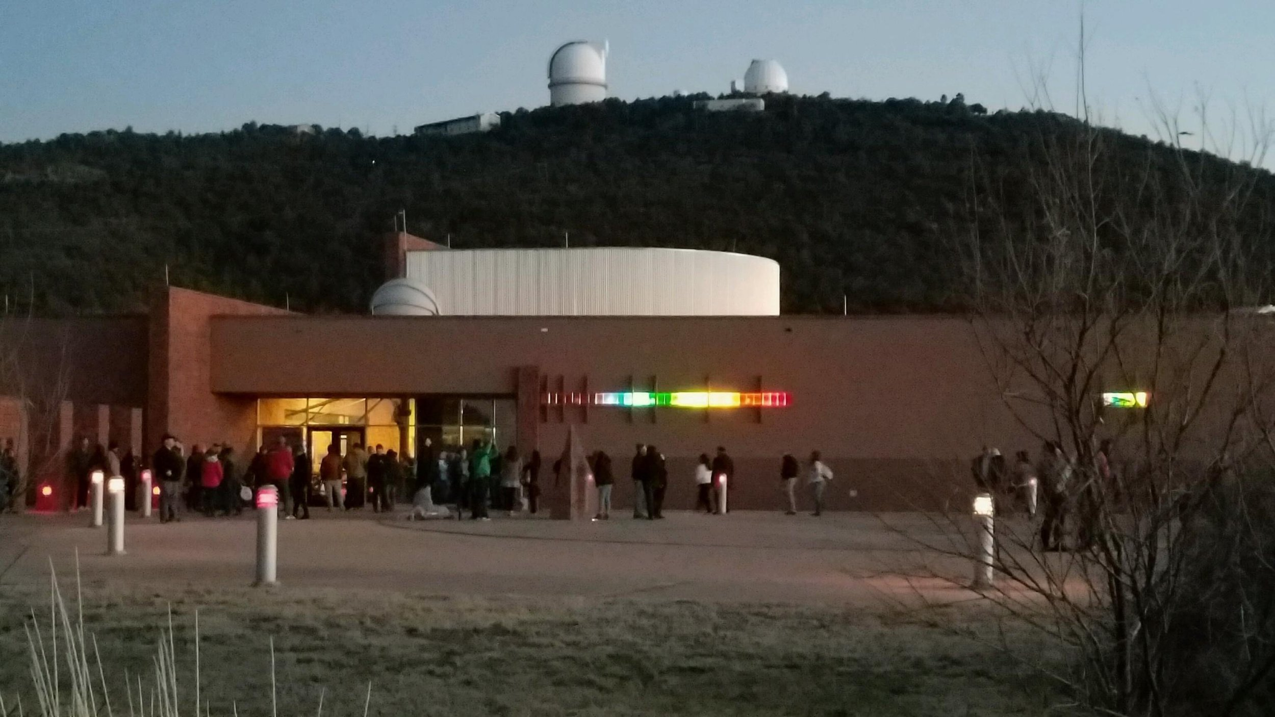 The McDonald Observatory before the Star Party.