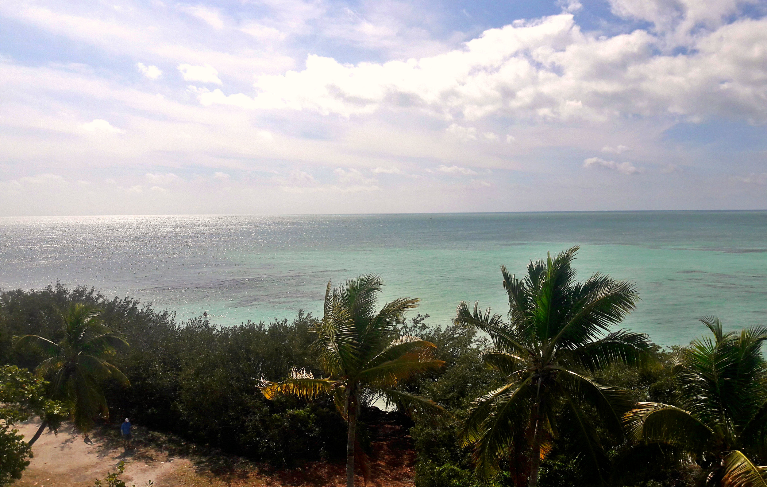 Beautiful beach view of the Atlantic from Bahia Honda State Park
