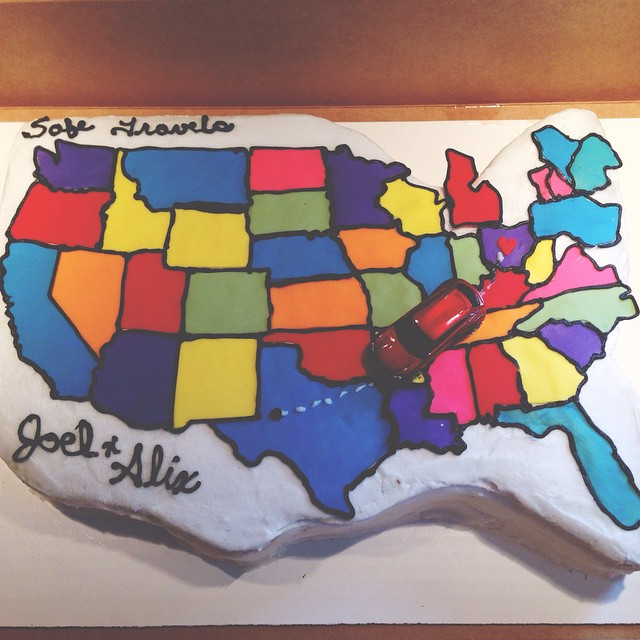 """Our cake at our """"good bye party"""" in 2015"""