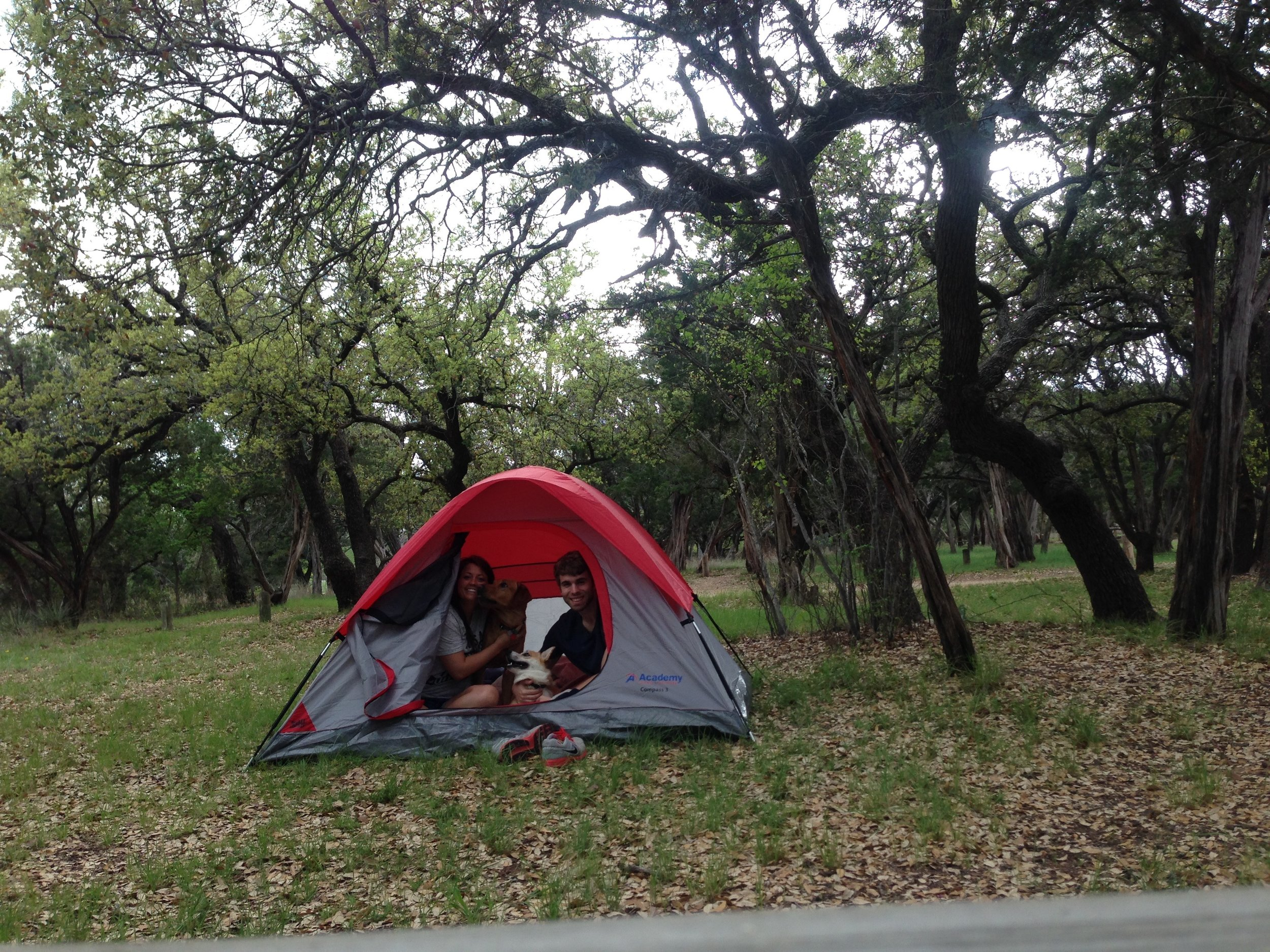 Camping in Abiline State Park during Joel's first contract in 2015.