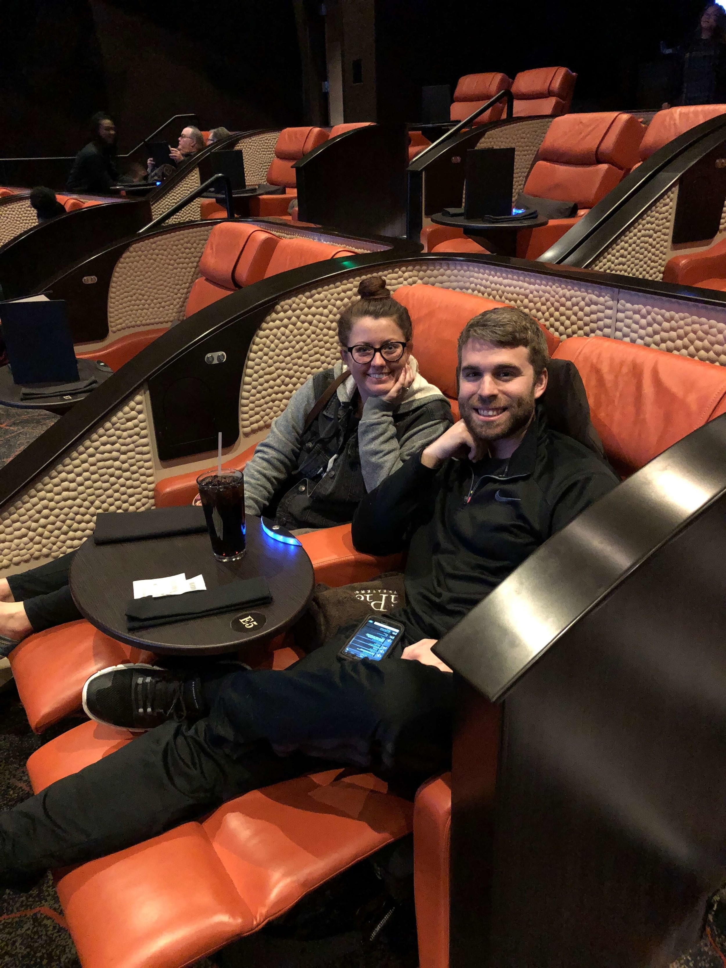 - -saw a weird movie at a super swanky movie theater in Houston