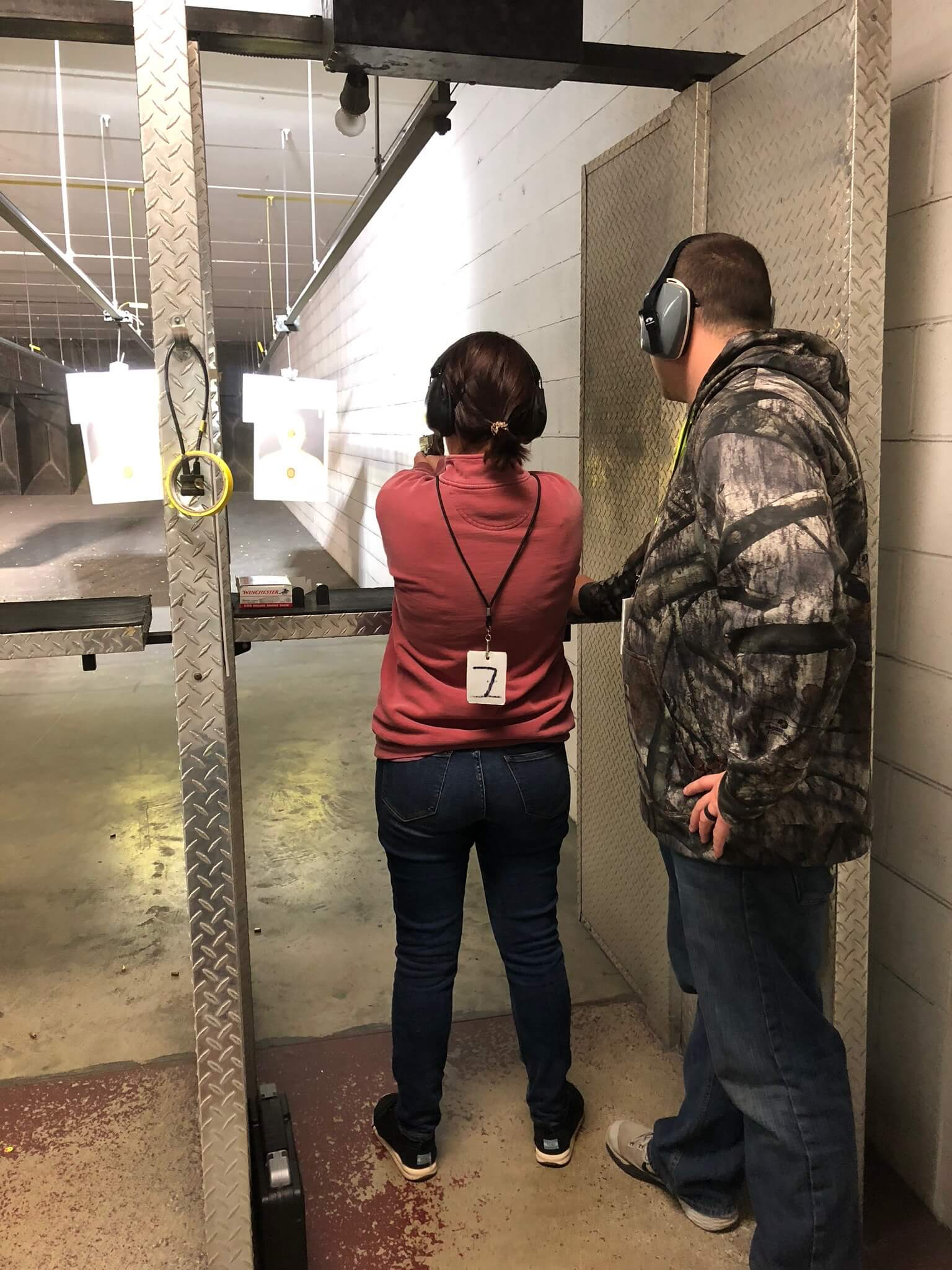 - -my brother taught me about shooting guns at the range