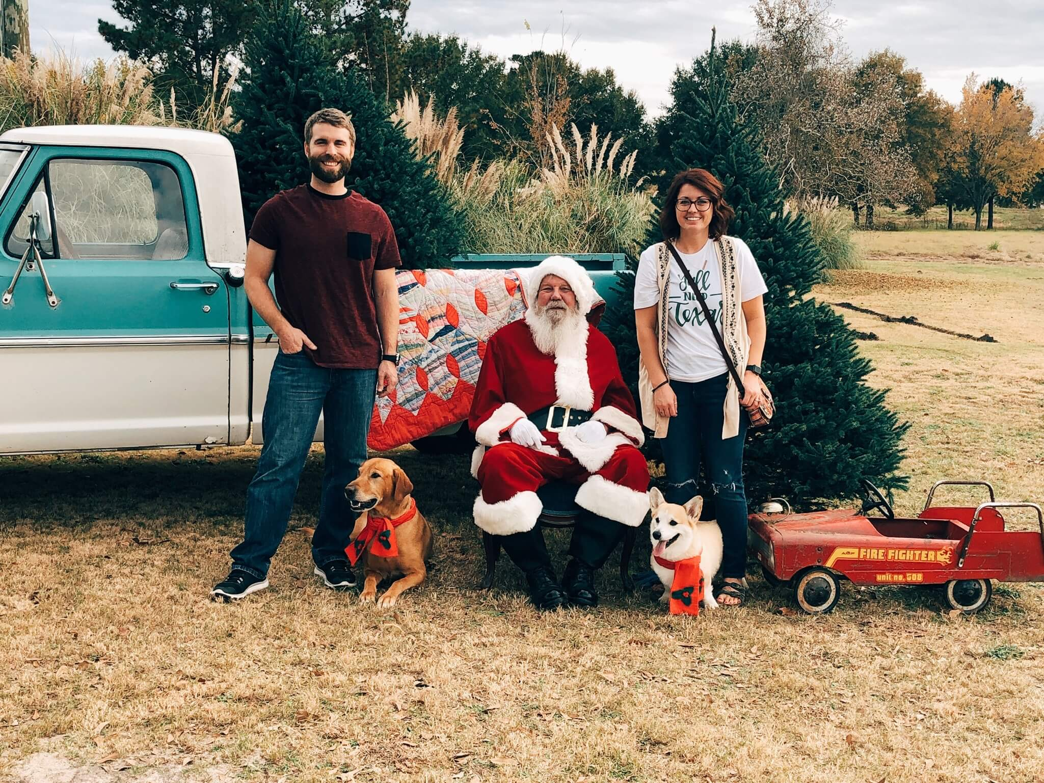 - -the boys saw Santa