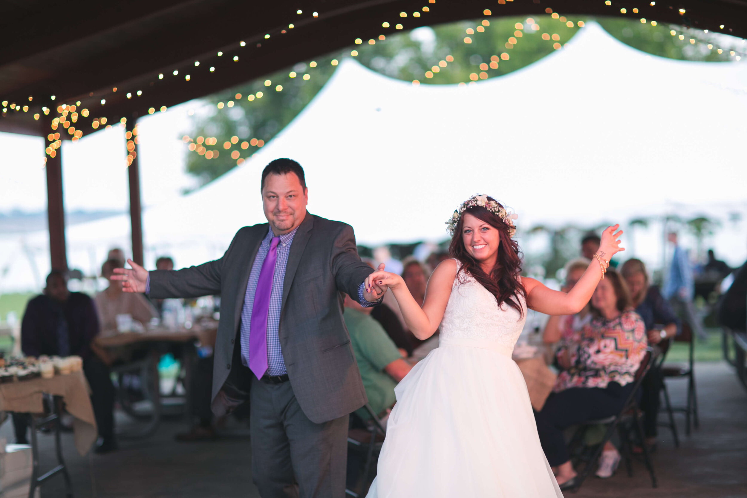 My Dad and I obviously had to show off on the dance floor!