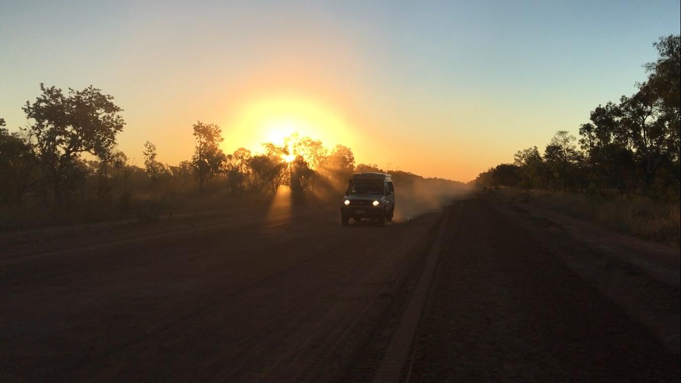 Sonnenuntergang Outback