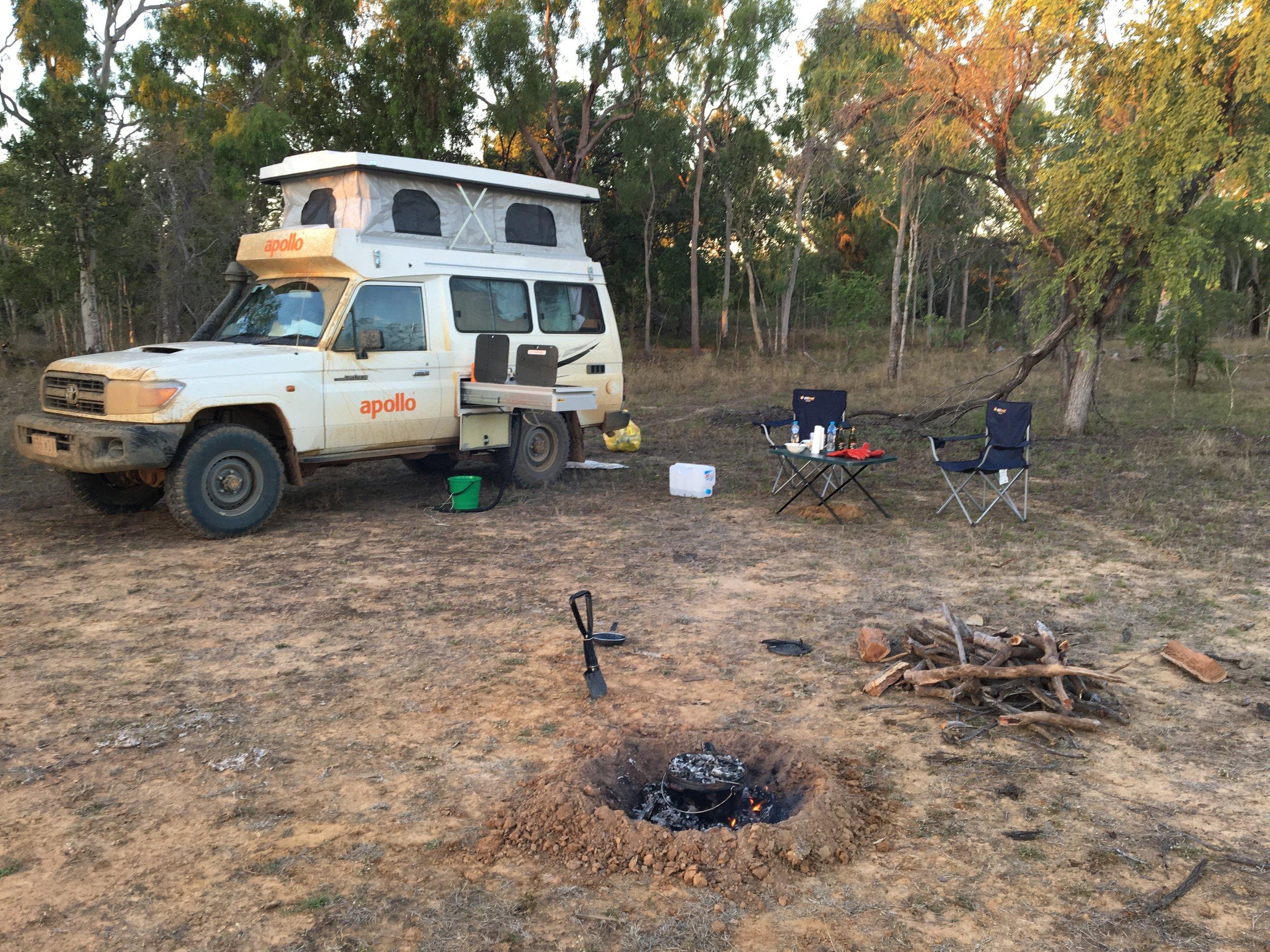 Campen im Busch