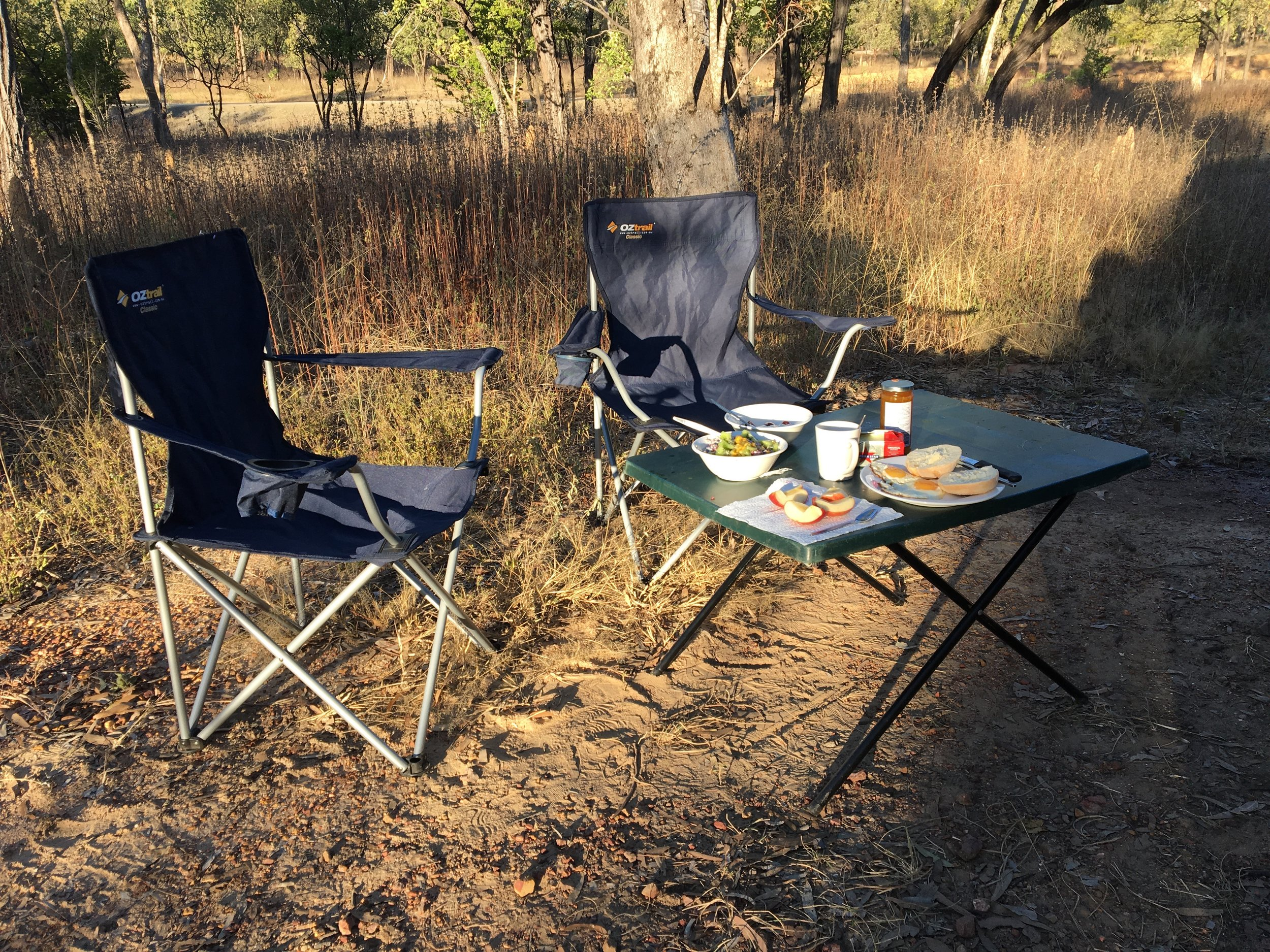 Frühstück im Busch
