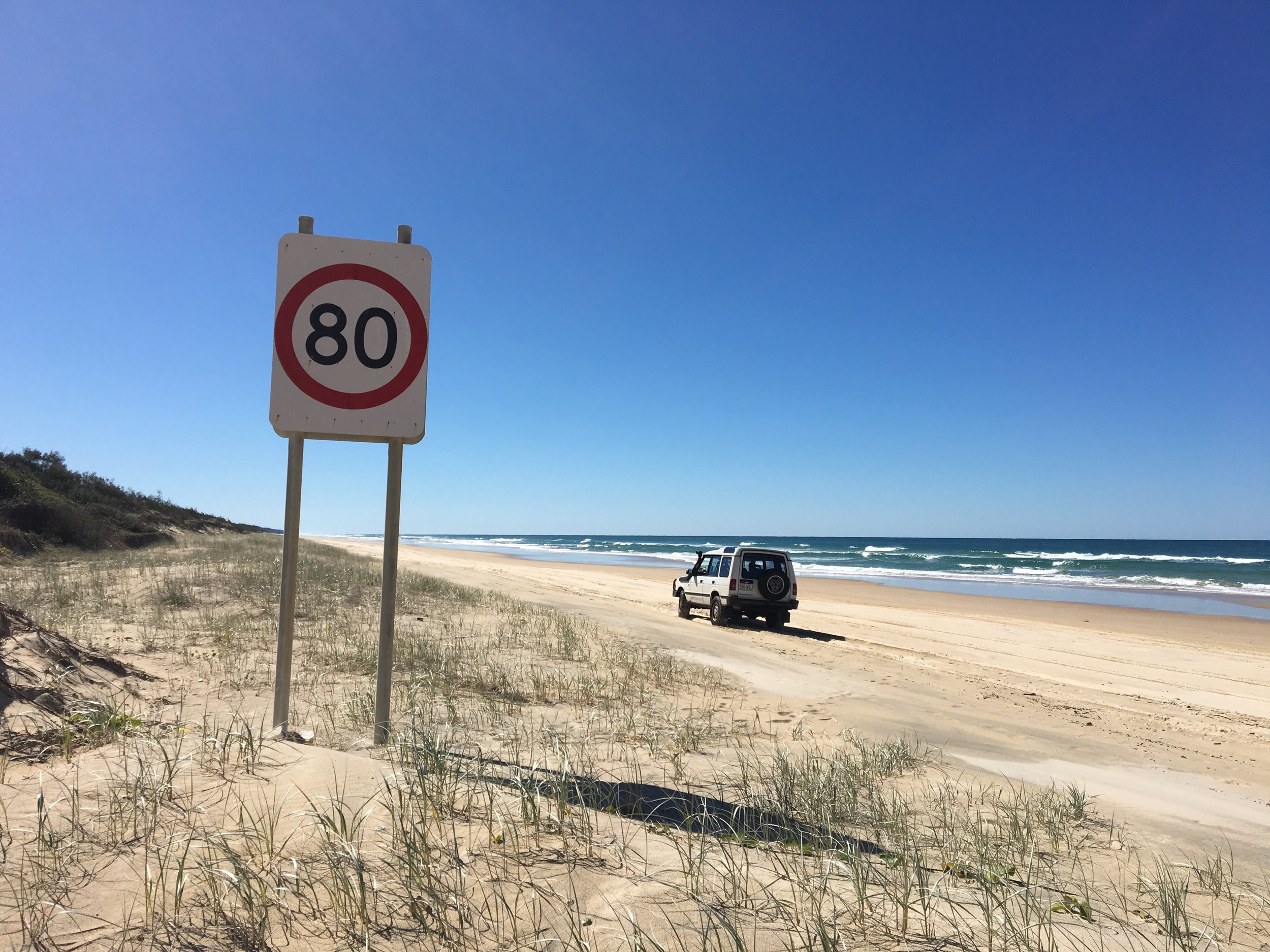 Fahren am Strand