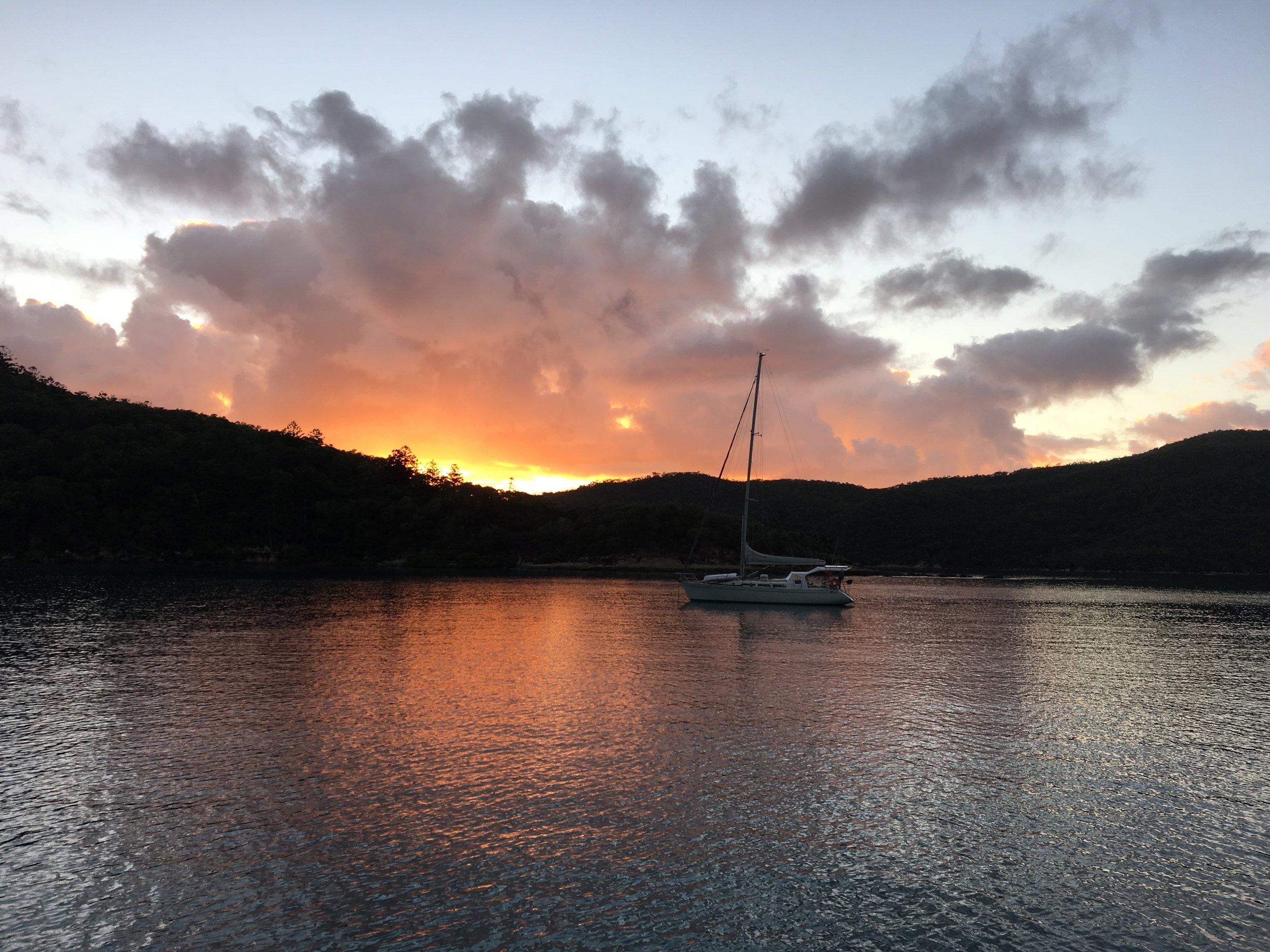 Sunset on Whitsunday Islands