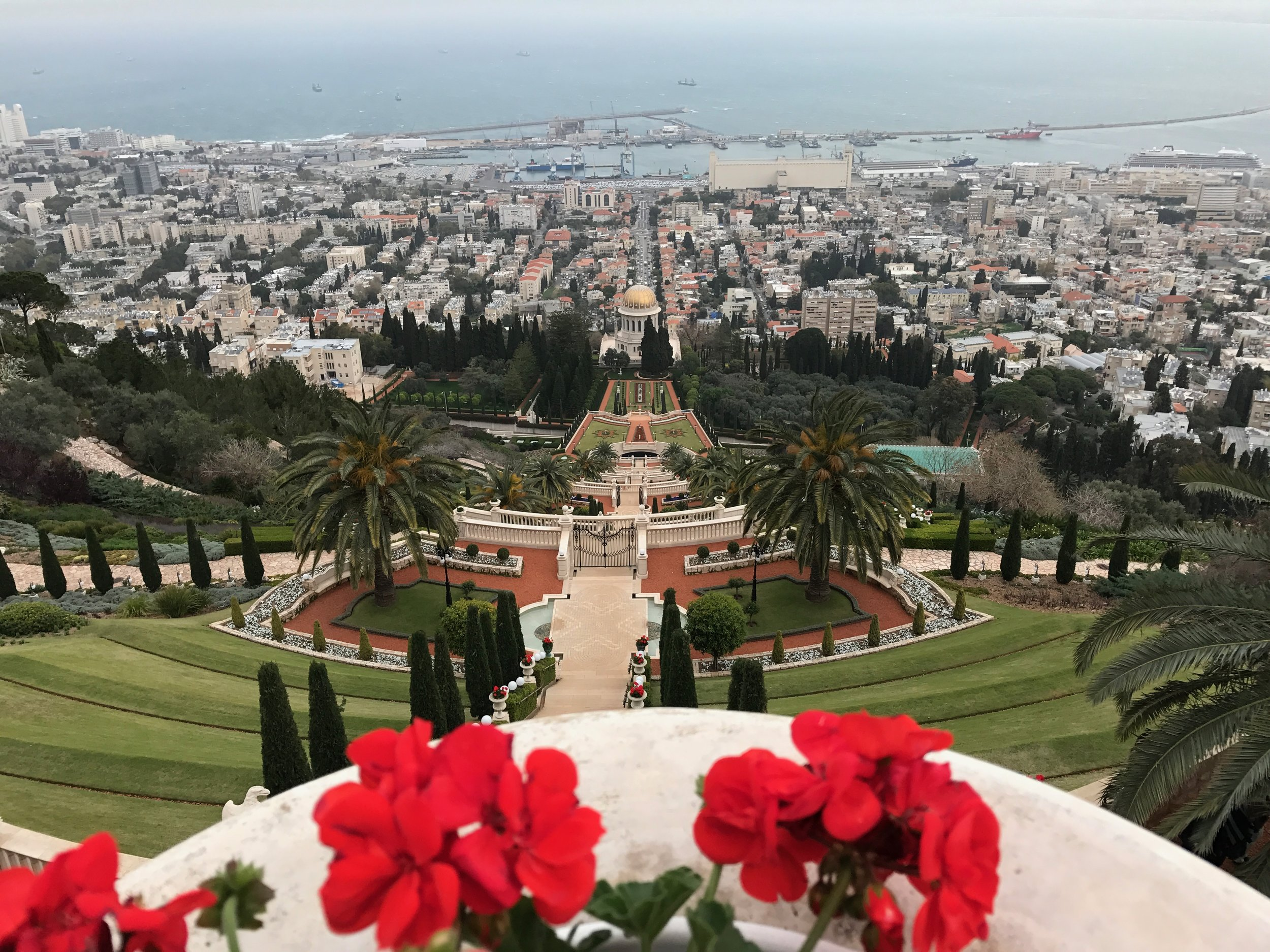 The hanging gardens in Haifa