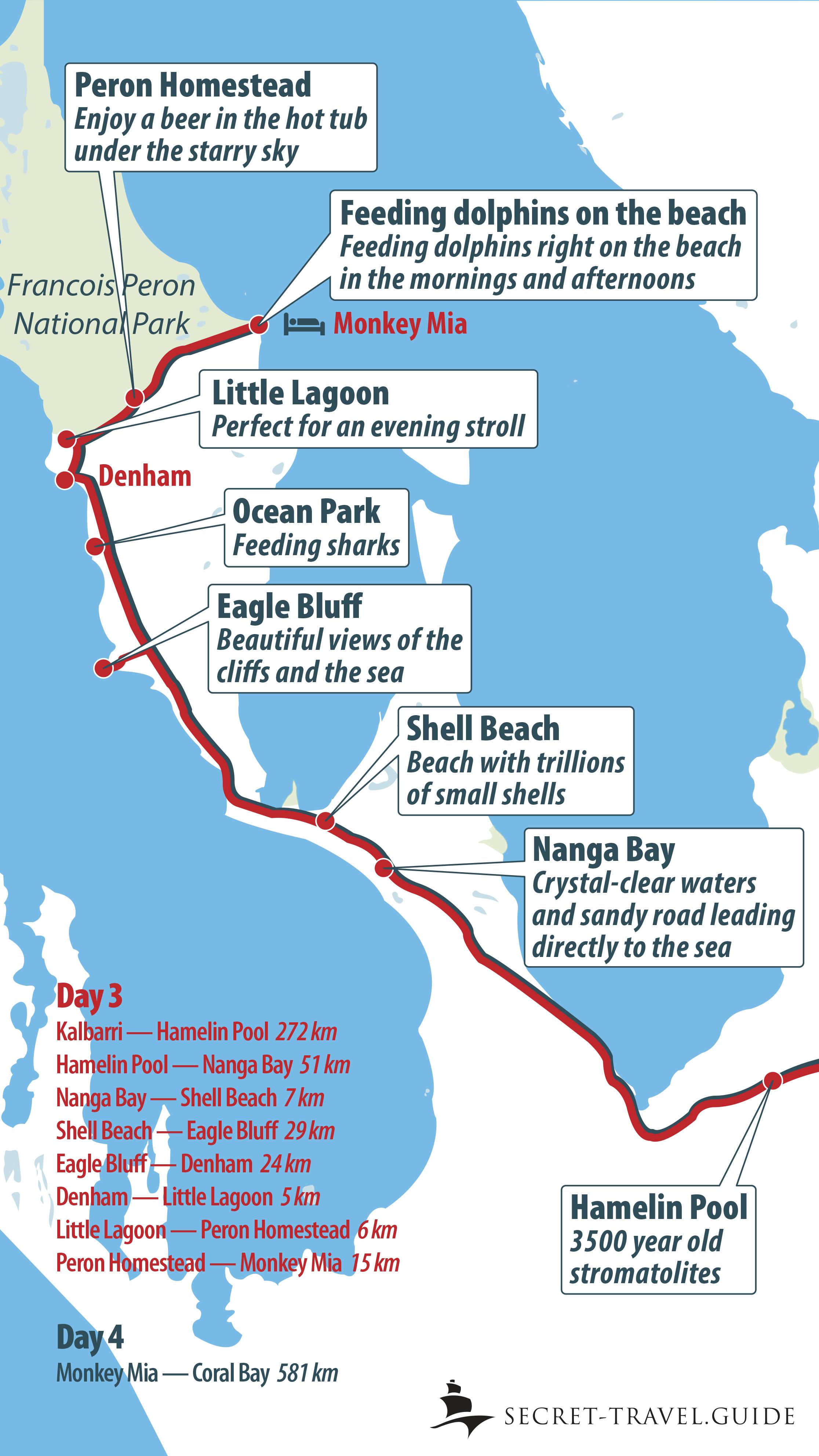 Shark Bay map