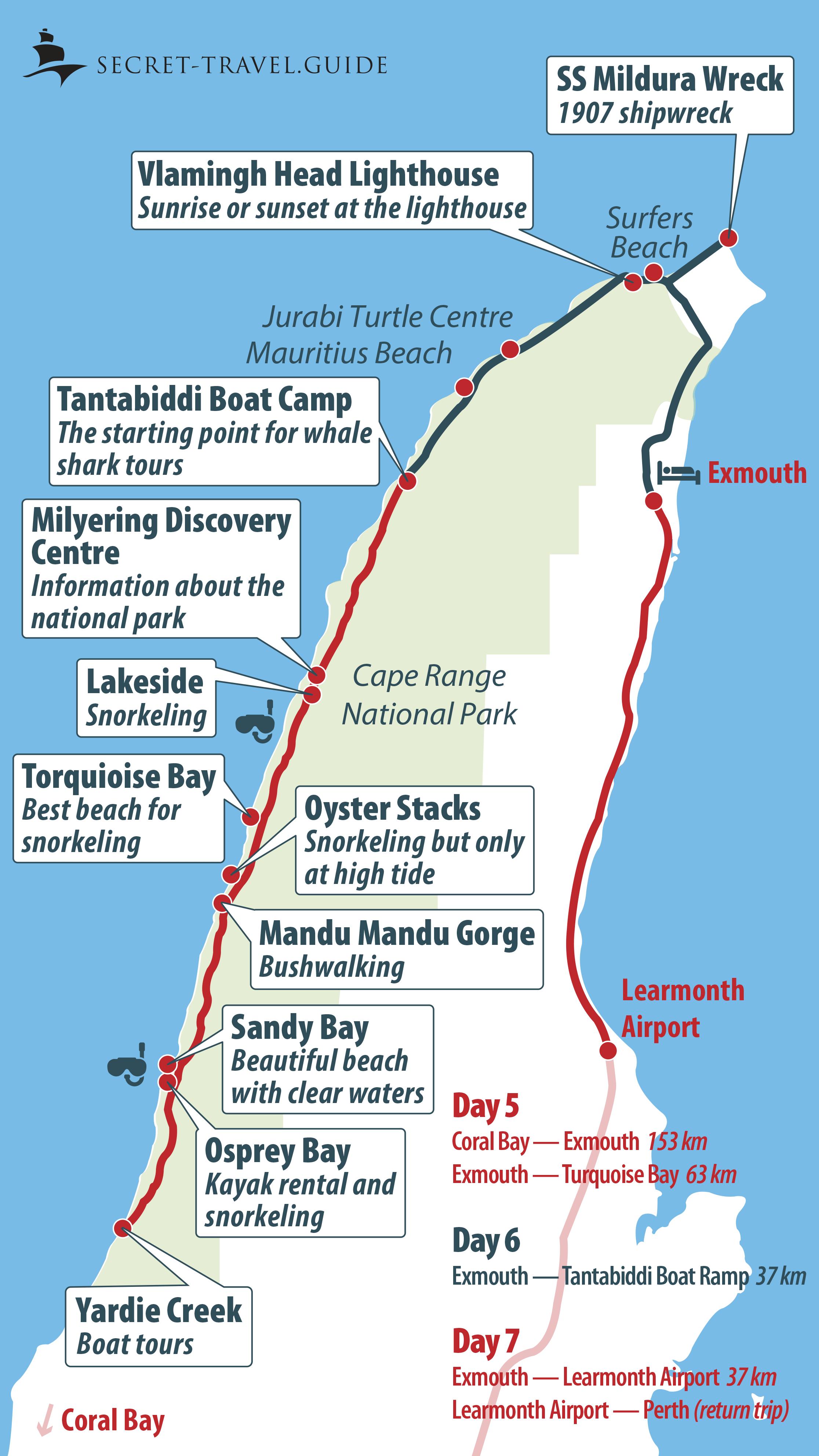 Ningaloo Reef map / Exmouth map