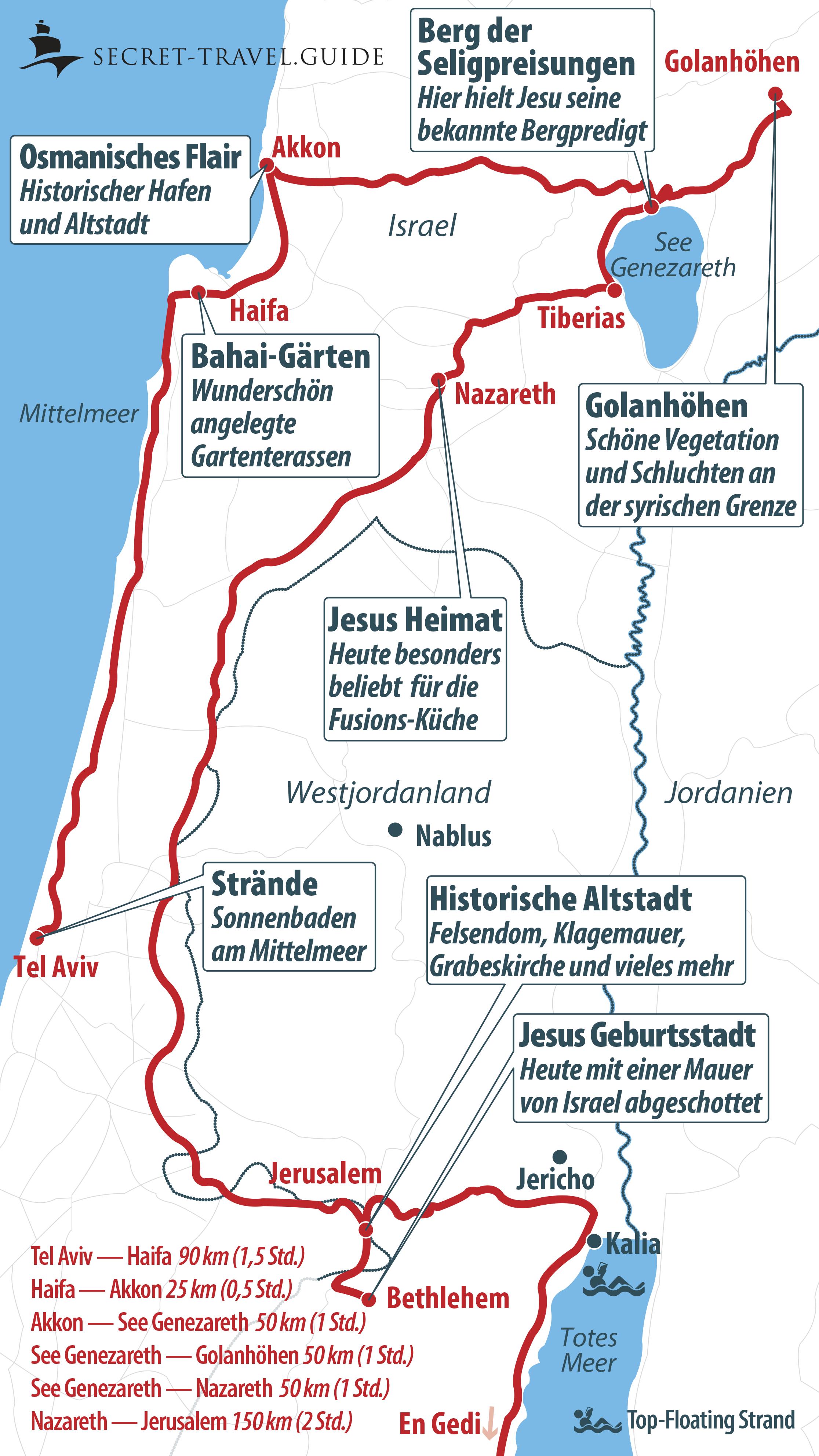 Karte Norden Israels