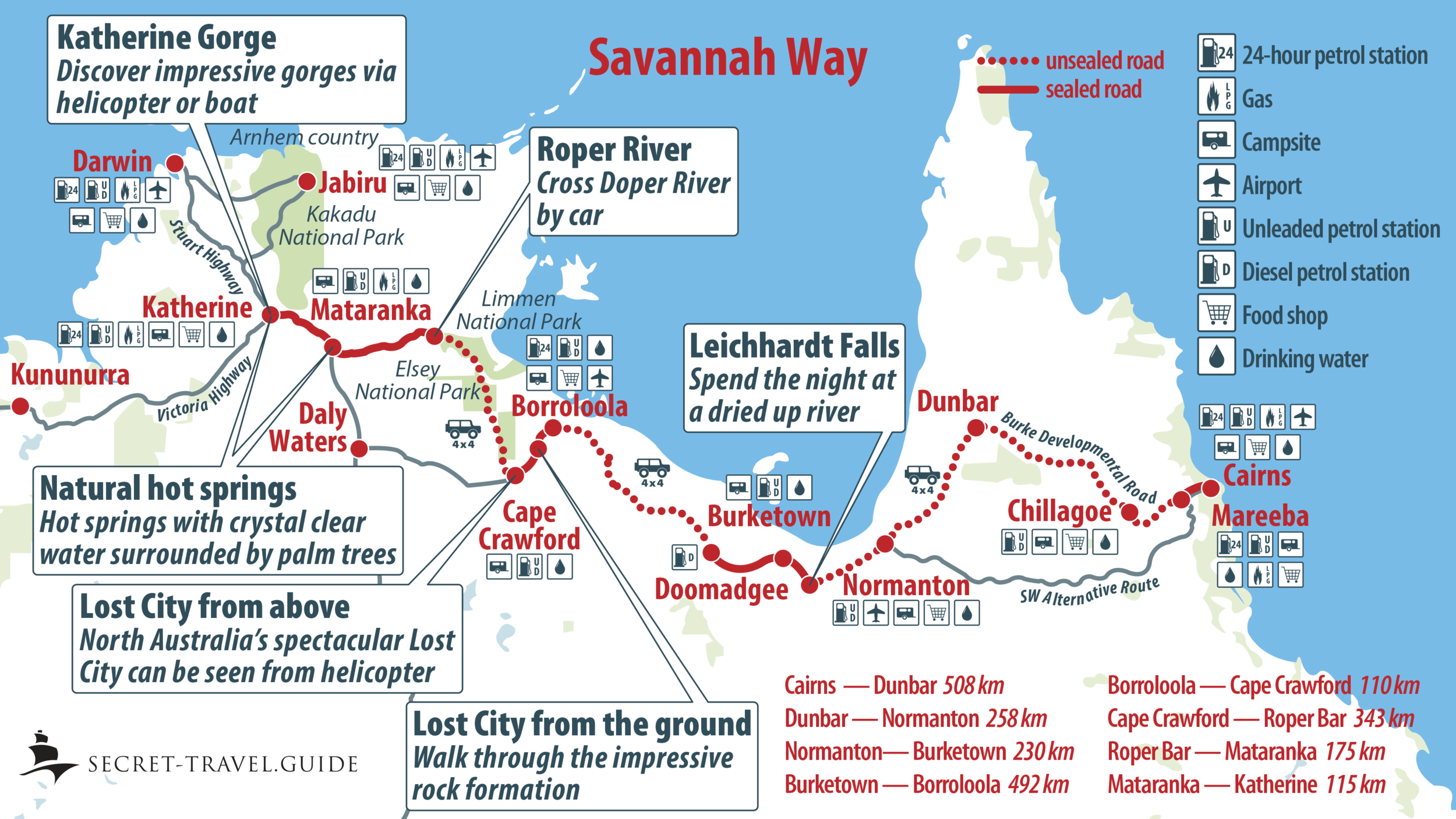 Savannah Way Itinerary - from Cairns to Katherine — secret ...