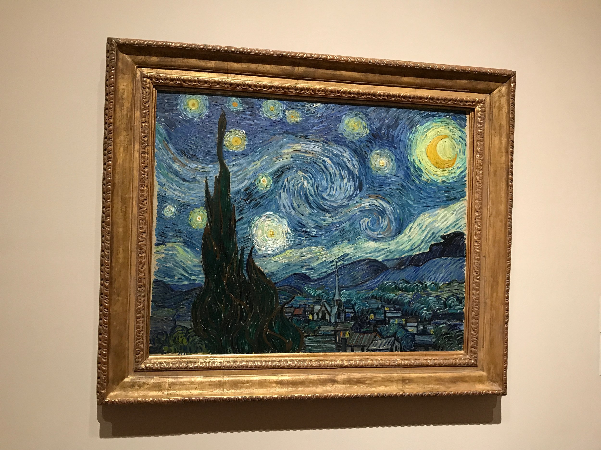 The Starry Night Painting by Vincent van Gogh - MoMa