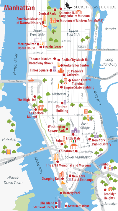 New York Tourist Map