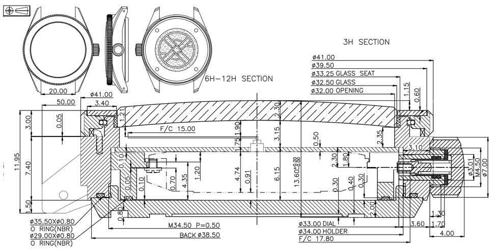 Nodus Trieste technical drawings