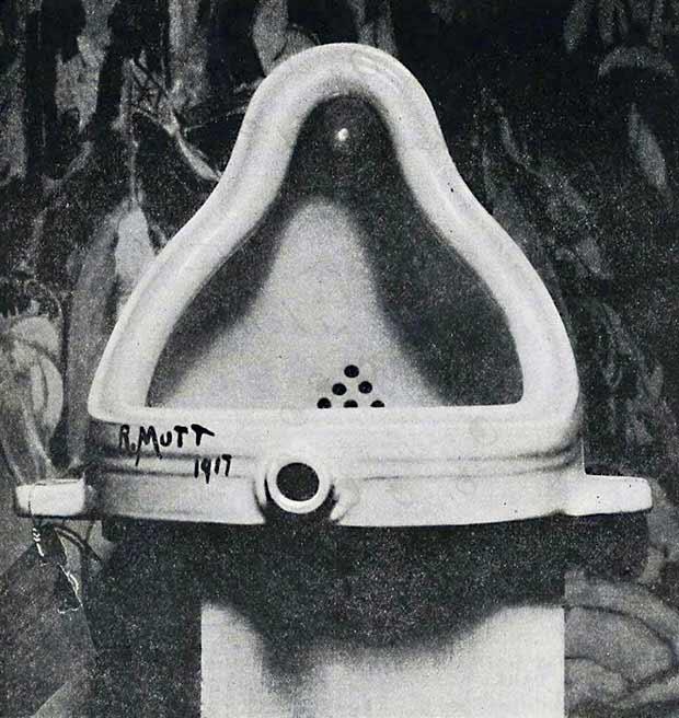 Duchamp's original  Fountain, 1917  Photo credit:phaidon.com