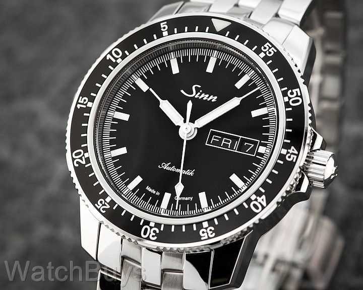 The Sinn 104 has a slim case with beautiful wide lugs.  Photo credit: WatchBuys