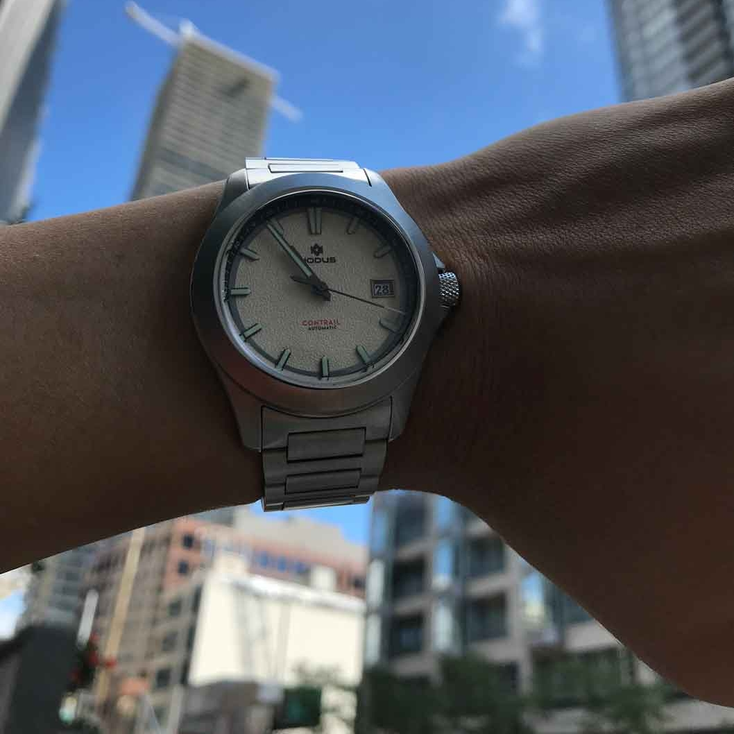 The typical watch-lover wrist-shot.