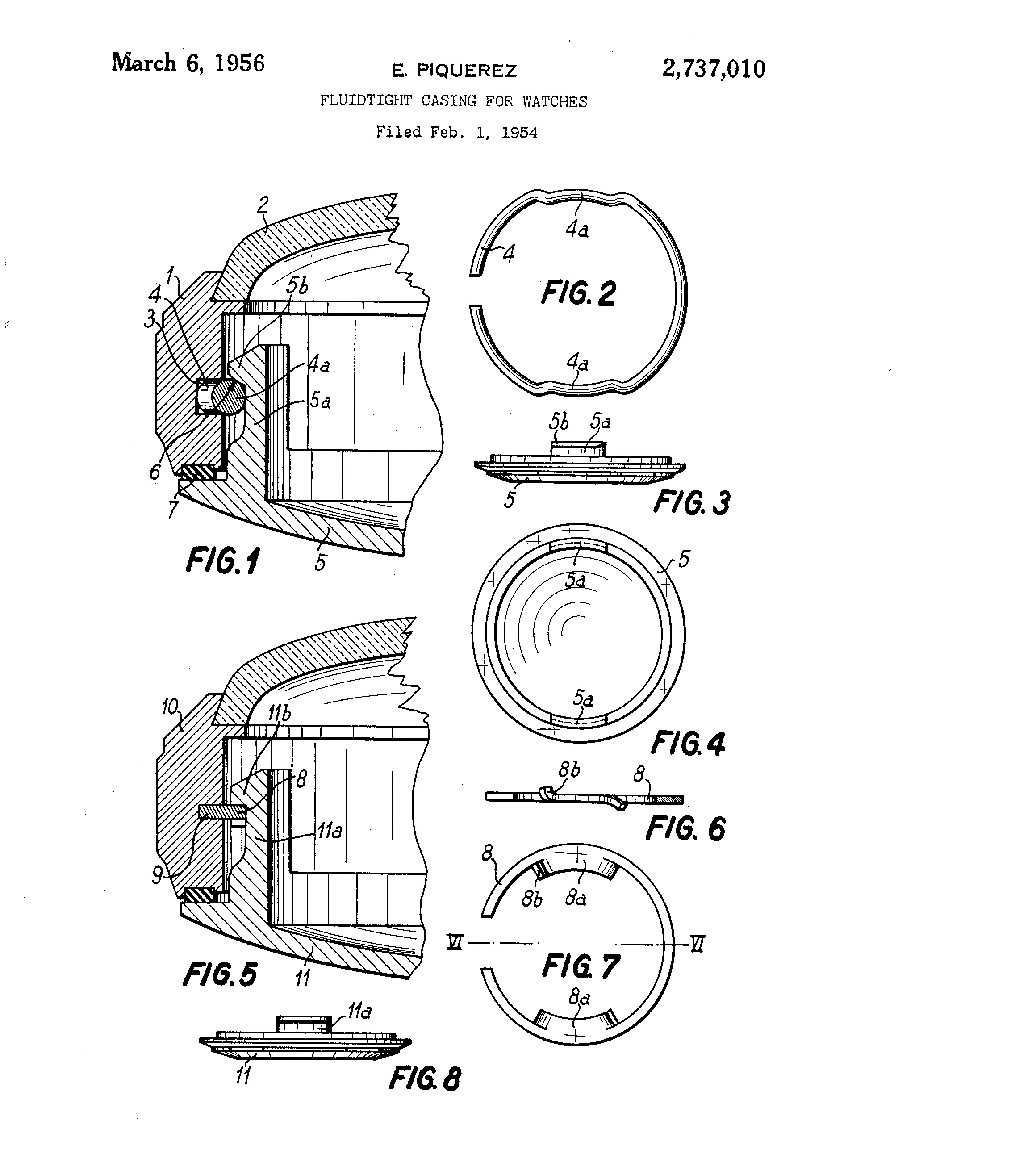 A technical drawing of the SC caseback construction Photo credit:  patents.google.com