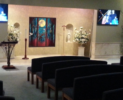 Bowra and Odea Funerals - Hilton WA - Full Crestron controlled av system with multiple screens, etc