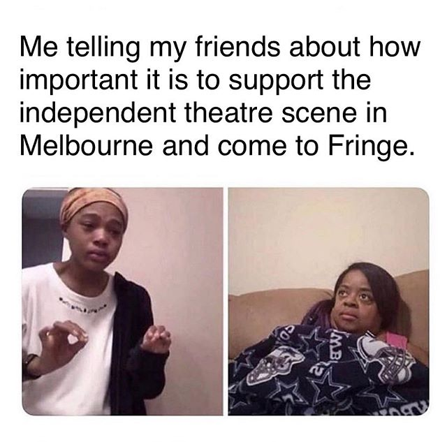 We only have two tickets left for tonight's show so I guess it's working 💁🏻‍♀️ @melbfringe #thejesusyplay #melbournetheatre #theatre #independenttheatre