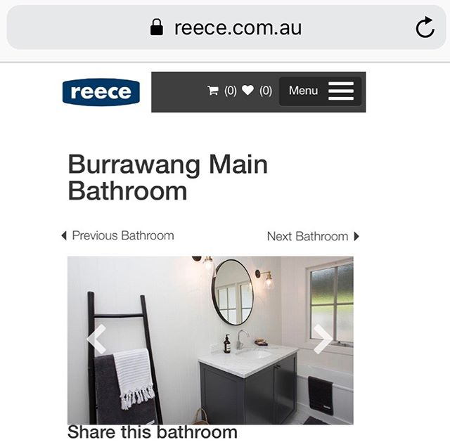 If you're thinking of renovating a bathroom head over to the Reece Bathroom Gallery where you can find loads of inspiration and shop their product range! Thanks @reecebathrooms for featuring our recent Burrawang project 🛁