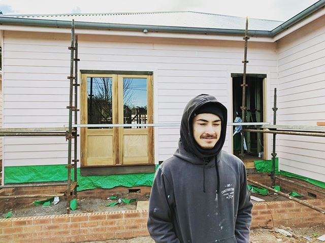 One chuffed appreciate with his efforts this week! And a few progress shots whilst the boss is away #Ateam  #jnvconstructions #custombuilder #southernhighlands #burrawang #design #develop #flip