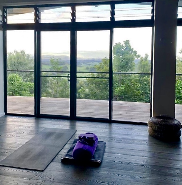 Sunrise yoga classes on offer daily are easy to get used to with these views.