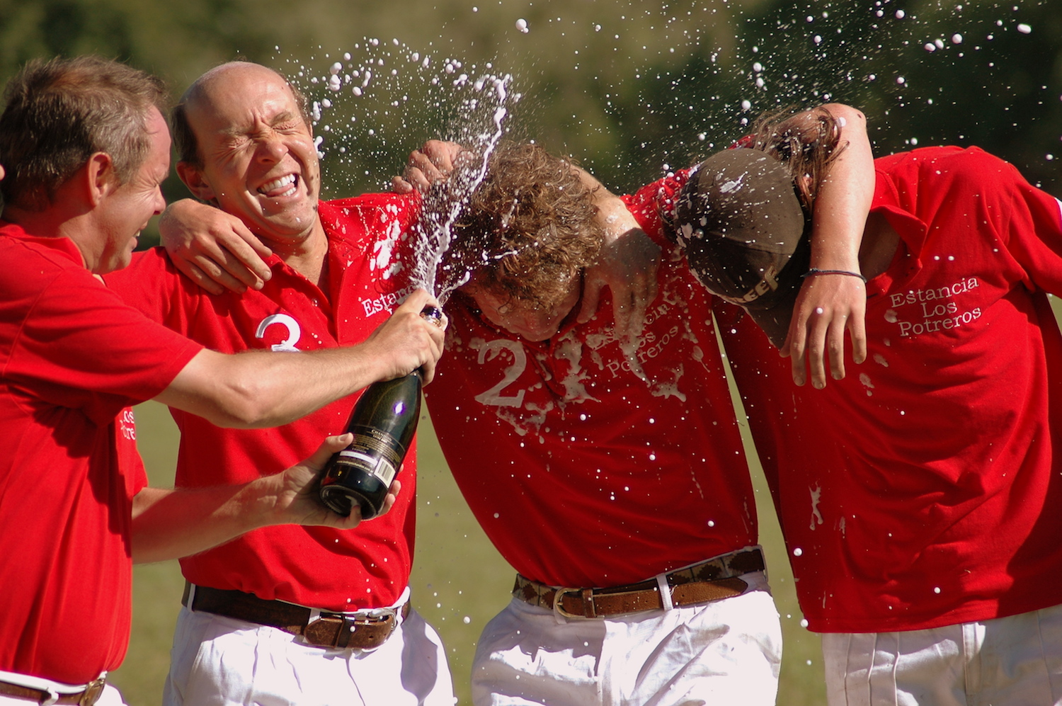 Polo Players Celebrating