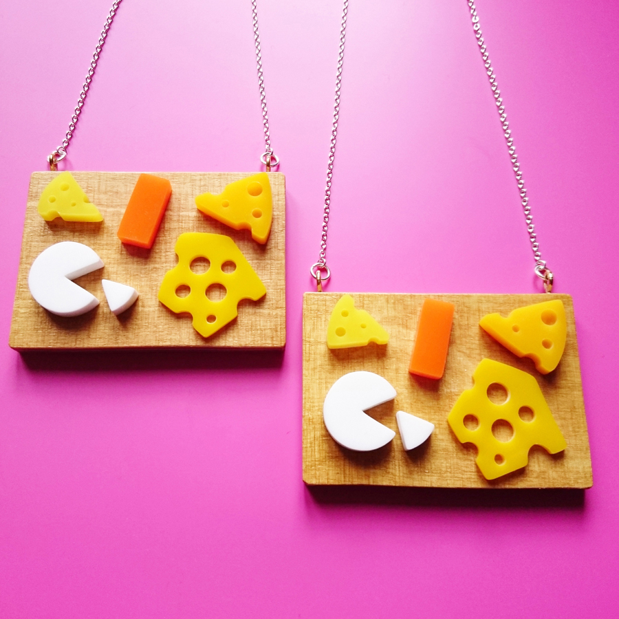 i am acrylic Cheese Board Necklace.jpg