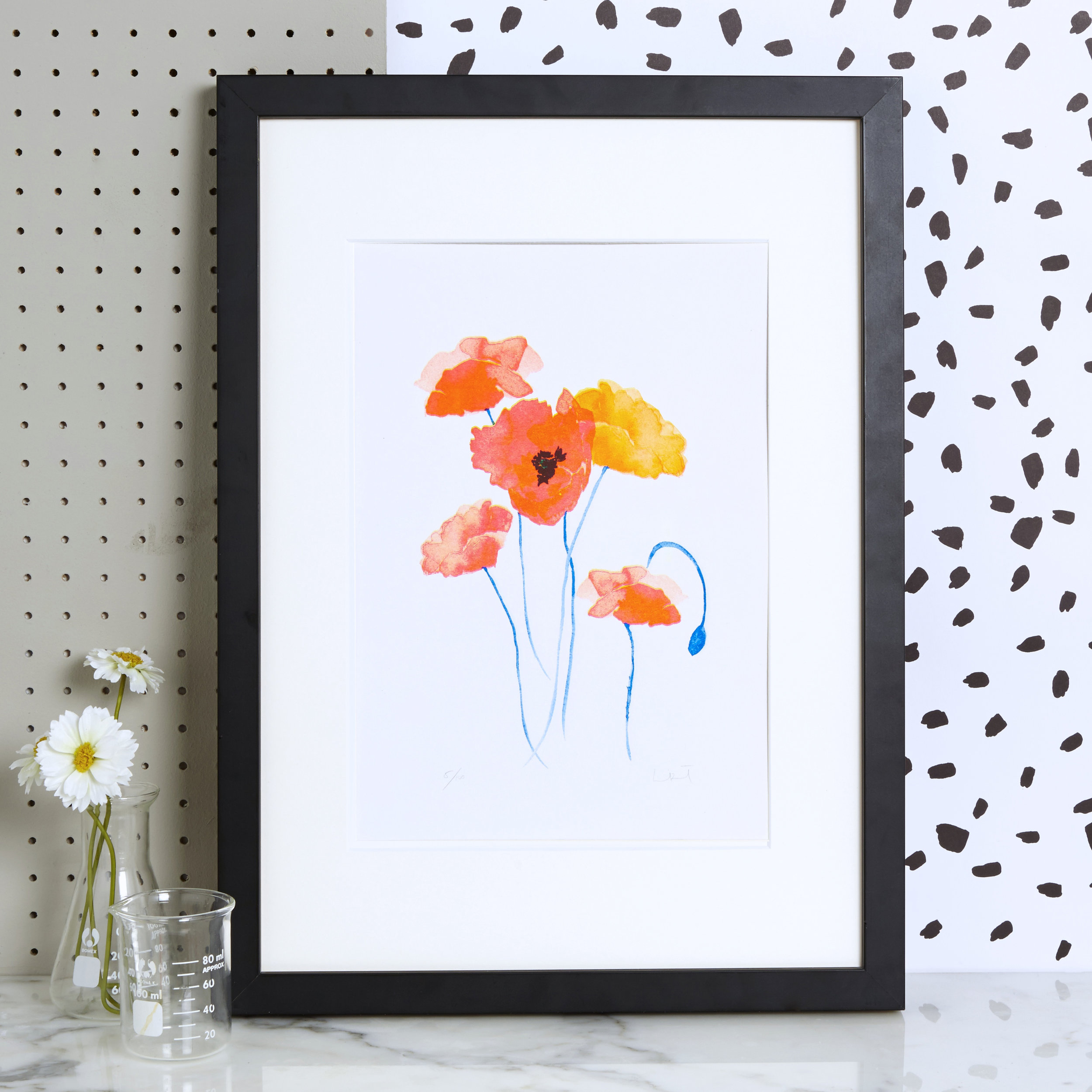 Blank Inside, Poppies Risograph Art Print with wildflower seeds, £18, www.blankinsidedesign.co.uk.jpg