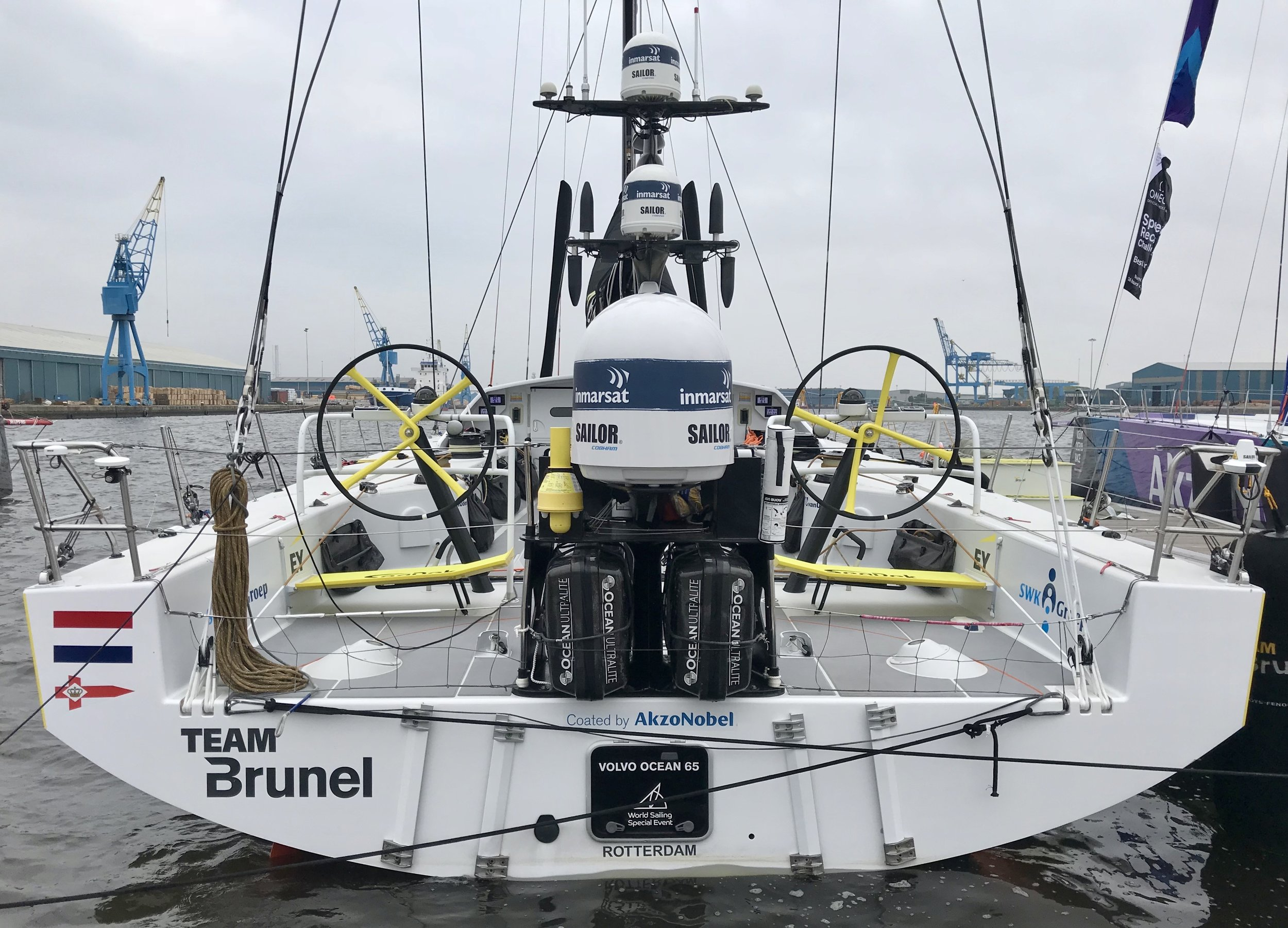 Volvo Round The World Yacht Race - Team Brunel's Boat - Cardiff 2018 - Ant Leake for Bluefin TV