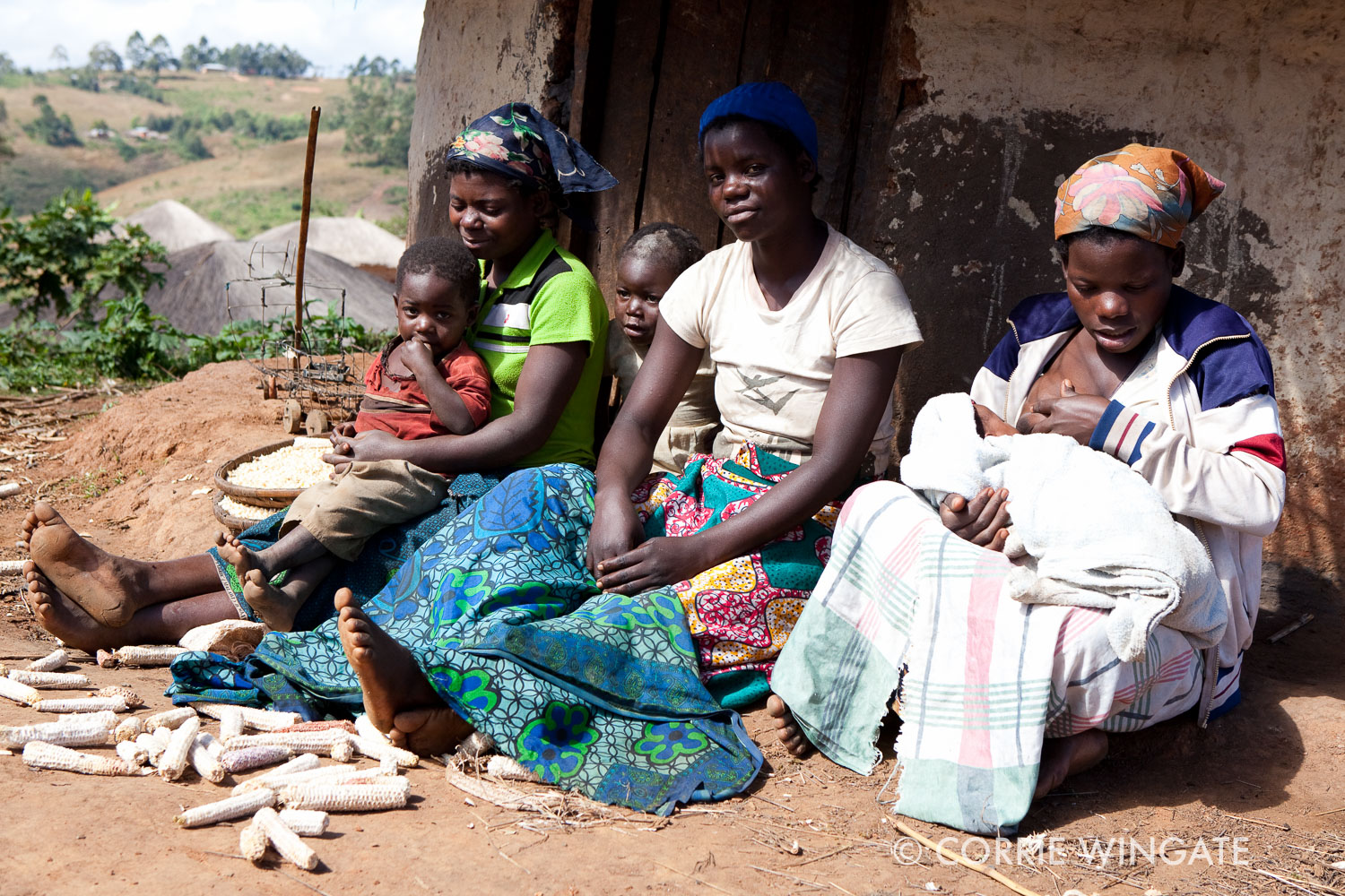 Newborn babies and mothers effected by the grant, Kweneza village, near Nsambe Health Centre, Neno district., Malawi, Africa