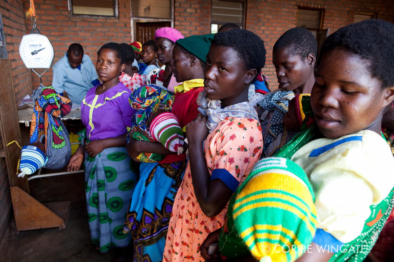 Under five's clinic, Nsambe Health Centre, Neno district., Malawi, Africa