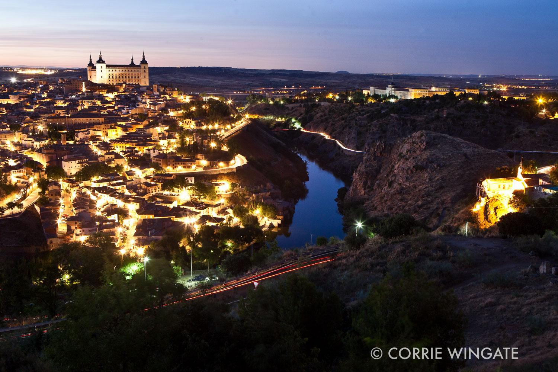 View of Toledo city and River Tagus, Castilla-la Mancha, Spain
